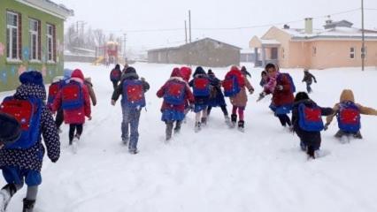 Kar yağışı nedeniyle okullar orada tatil edildi!
