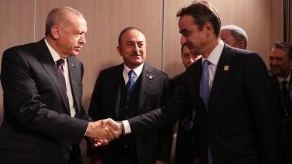 Erdoğan ile görüşen Miçotakis'ten flaş açıklama