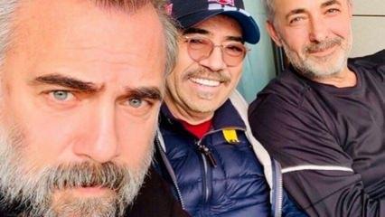 Oktay Kaynarca, Selçuk Yöntem ve Mehmet Aslantuğ'dan pazar pozu!