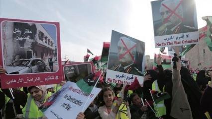 Libya halkının darbeci General Hafter'e karşı Trablus hükümetine desteği artıyor