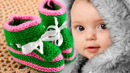 Şık ve kolay örgü patik yapılışı! Bebek patiği nasıl örülür? 2020 Bebek patiği modelleri ve yapımı