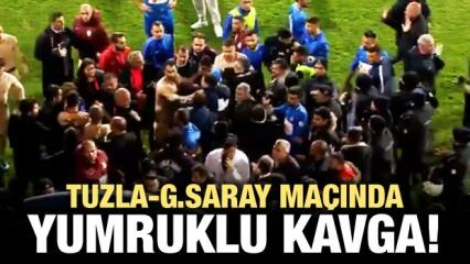 Tuzla-G.Saray maçında yumruklu kavga!