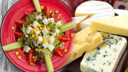15 günde 10 kilo verdiren Peynir diyeti! Hangi peyniri nasıl yemek zayıflatır? Süzme peynir ve salata ile şok diyet