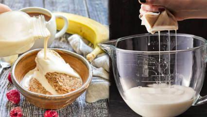 Evde yulaf sütü nasıl yapılır? Pratik yulaf sütü yapımı