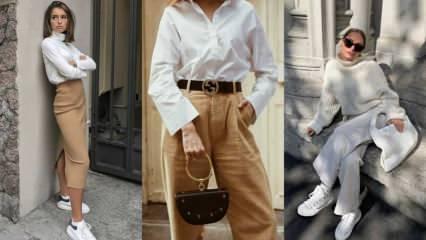Kışın nasıl beyaz giyilir? Beyaz kıyafet kombinleme