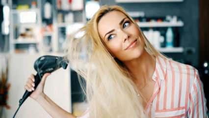 Saç kurutma makinesinin bozulmaması için ne yapılır?