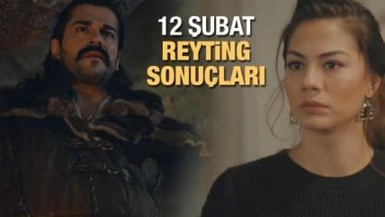 12 Şubat reyting sonuçları: Kuruluş Osman, Doğduğun Ev Kaderindir reyting sıralaması!