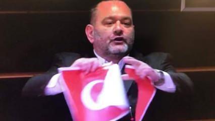 AP'den Türk bayrağını yırtan Yunan vekile komik ceza