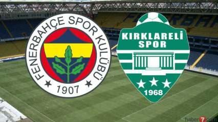 Fenerbahçe Kırklarelispor maçı ne zaman? Maç hangi kanaldan yayınlanacak?