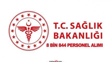 Sağlık Bakanlığı 8 bin 844 personel alımı! Başvurular ne zaman?