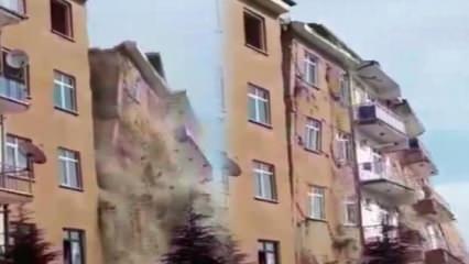 4,2'lik deprem sonrası yerle bir oldu! Binanın çöküş anı kamerada