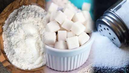 3 beyazdan uzak durarak zayıflama yöntemi! Şeker ve tuz nasıl bırakılır?