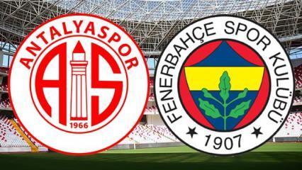 Antalyaspor Fenerbahçe maçı ne zaman saat kaçta? Antalyaspor Fenerbahçe muhtemel 11'ler
