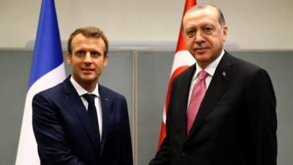 Başkan Erdoğan'la Macron arasında kritik görüşme