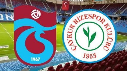Süper Lig Trabzonspor Çaykur Rizespor maçı saat kaçta? muhtemel 11'ler belli oldu