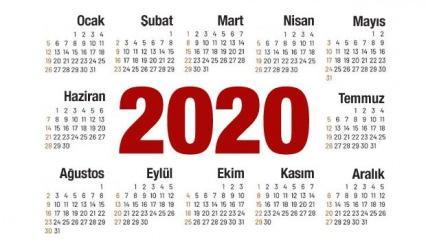 2020 hangi günler resmi tatil: Ramazan ve Kurban Bayramı başlama tarihleri...