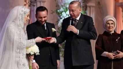 Başkan Erdoğan, yeğeni Sevde Erdoğan ile Ersin Özsoy'un nikah şahidi oldu!