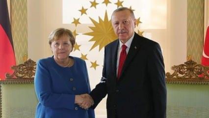 Başkan Erdoğan'la Merkel arasında kritik görüşme
