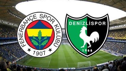 Fenerbahçe Denizlispor maçı ne zaman saat kaçta? Muhtemel kadrolar belli oldu!