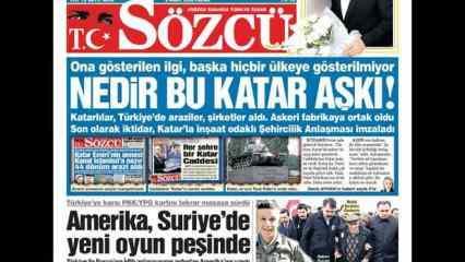 Sözcü gazetesinin Katar manşetine Türk kullanıcılardan 'Esad'lı tepki