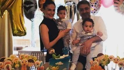 Sinem Öztürk ile Mustafa Uslu'nun ikizlerinin 1 yaş günü kutlaması!