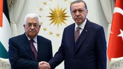 Başkan Erdoğan, Filistin Devlet Başkanı Mahmud Abbas ile telefonda görüştü