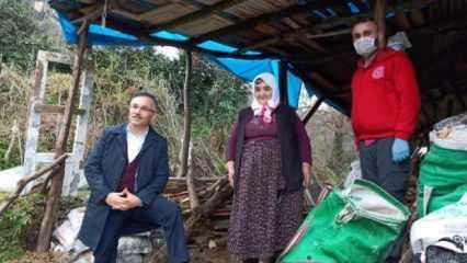 Kıyafetlerini elde yıkayan yaşlı kadına Vali'den çamaşır makinesi hediyesi