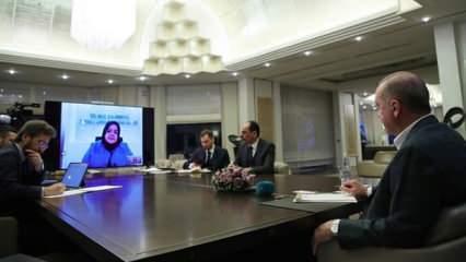 Son dakika: Erdoğan bakanlarla telekonferans ile görüştü