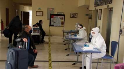 Cezayir'den getirilen 450 kişi öğrenci yurduna yerleştirildi