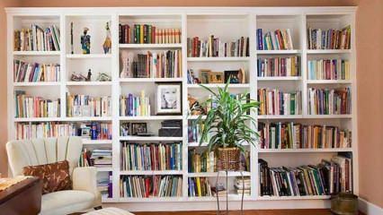 Evde kütüphane dekorasyonu önerileri