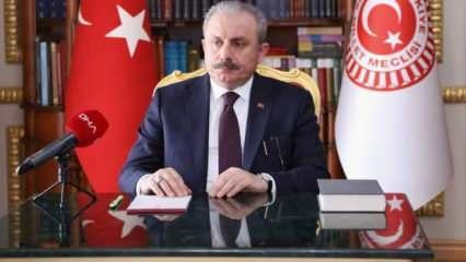 TBMM Başkanı Şentop, Alparslan Türkeş'i vefatının 23. yılında andı