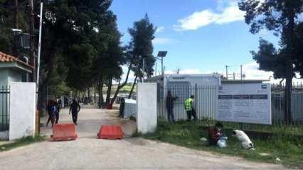 Yunanistan'da sığınmacı kampı karantinaya alındı