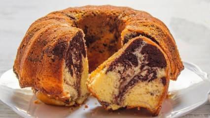 Dünyanın en kolay keki mermer kek nasıl yapılır? Enfes mermer kek tarifi
