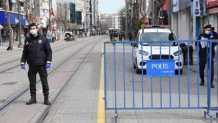 Eskişehir'de insan yoğunluğu olan caddelere bariyerli önlem