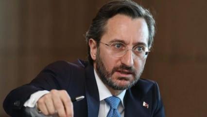 """Fahrettin Altun: """"Hesabını bu cani terör örgütünden soracağız"""""""