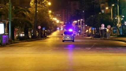 Yasak sonrası sokaklar boşaldı devriye başladı!