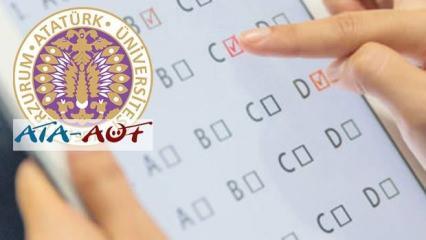 2020 ATA AÖF sınavı ne zaman yapılacak? Erzurum Üniversitesinden sınav açıklaması!