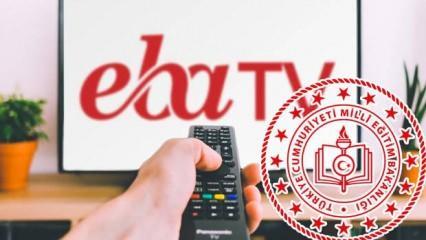 18 Mayıs Pazartesi TRT EBA TV canlı izle:  EBA TV 18 Mayıs ders programı!