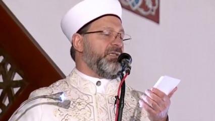 Erbaş, Ramazan ayının ilk Cuma hutbesinde Müslümanlara seslendi