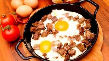 Kavurmalı yumurta nasıl yapılır? Enfes kavurmalı yumurtanın püf noktaları