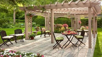 Küçük bahçe dekorasyonu önerileri