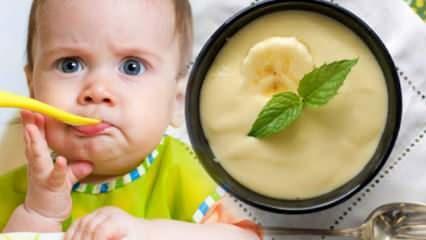 Muzlu bebek muhallebisi tarifi! Muz bebeklerde kilo aldırır mı, kabızlık yapar mı?