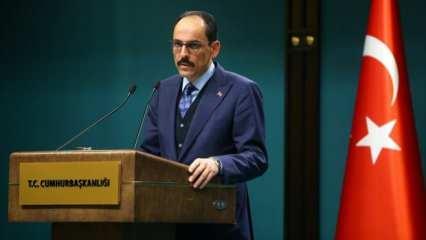 Cumhurbaşkanlığı Sözcüsü Kalın'dan İsrail'in açıklamasına tepki
