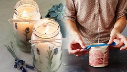 Evde kokulu mum nasıl yapılır? Mum yapmanın püf noktaları ve mumu eski haline döndürme
