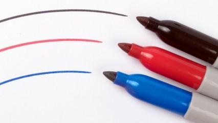 Keçeli kalem lekesi nasıl çıkar? Keçeli kalem lekesini gideren en kolay yöntem