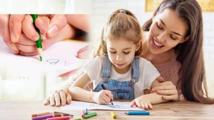 Çocuklara kalem tutturma yöntemi! Çocuklara kalem tutma nasıl öğretilir? Kalem tutma yaşı...
