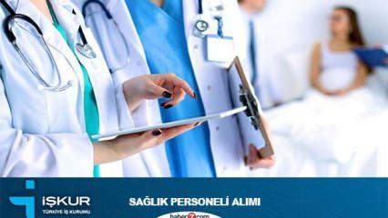 İŞKUR farklı kadrolara sağlık personeli alımı devam ediyor!