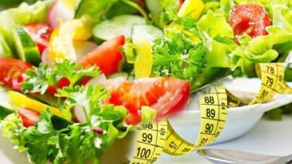 Doyurucu zayıflatan salata tarifleri! Kolay diyet salatalar