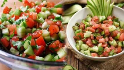 Kolay ve lezzetli diyet salata tarifi: Çoban salatası nasıl yapılır? Çoban salatası kalorisi
