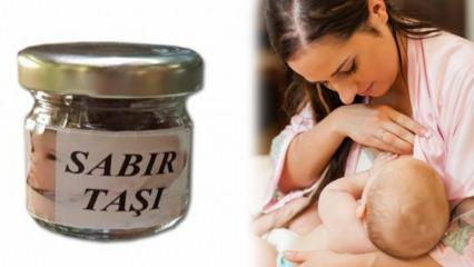Sabır taşı ile bebeği memeden kesme yöntemi! Sabır taşı nedir, nasıl kullanılır?